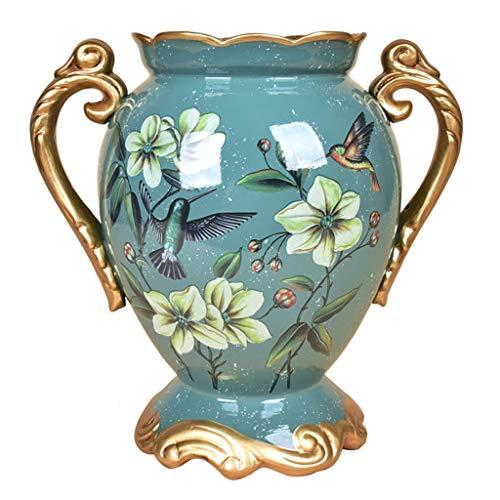 Keramik Blumen Vase Dekorativ im blauen Betriebsvase-klassischen kreativen blinden Hauptdekor-Vase und Tabellen-Mittelstücke Vase