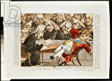 "Alu-Dibond-Bild 120 x 90 cm: ""The English Minister Reading the Imperial Decree to George III (1738-1820) Declaring that the British Isles are Subject to a Blockade, 21st November 1807 (coloured engraving)"", Bild auf Alu-Dibond"