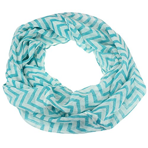 tonseer-women-infinity-chevron-zig-zag-color-block-double-loop-scarf-wrap-blue