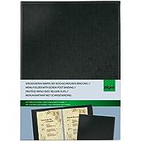 Sigel SM130 Speisekarten-Mappe mit Buchschrauben-Bindung für A4, schwarz - weitere Größen/Designs
