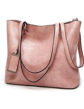 ALARION Damen Top-Griff Schulranzen Handtasche Umhängetasche Schultaschen Kuriertasche Tote Hobo Beutel Geldbörse