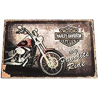 Marco Estilo Vintage Moto Harley davinson–Yamaha arredo casa negocio Bar Restaurante Taller Retro decorativas Wholesale diferentes dimensiones y imágenes 30x 20