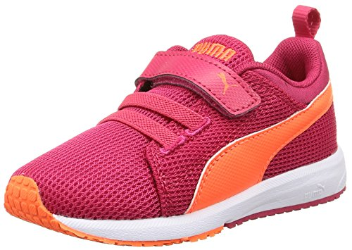 Puma Carson Runner V Kids, Chaussures de course mixte enfant Rose - Pink (rose red-fluo peach-white 21)