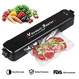 Vakuumiergerät,VicTora Vakuumierer Lebensmittel Folienschweißgerät,Lebensmittel Bleiben bis zu 8x länger Frisch,Automatisch Vakuumieren und Schweißen mit 15 pcs Gratis Bags