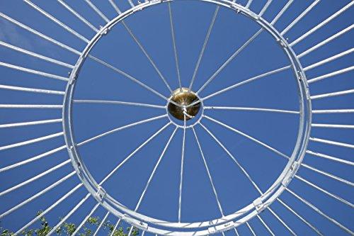 ELEO Florenz runder Gartenpavillon aus Metall mit Sonnensegel, Ø 3,7 Meter (Oberfläche: feuerverzinkt) - 7