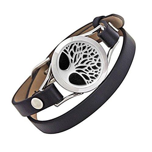 unisex – aroma – öl diffusor armband / duft aus rostfreiem stahl das armband mit ledergürtel (stil 7)