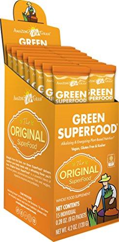Amazing Grass - Green SuperFood Boisson en poudre 15 Sachets