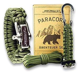 Visionquest Outdoor & Survival Paracord Set | Armband & Schlüsselanhänger |...