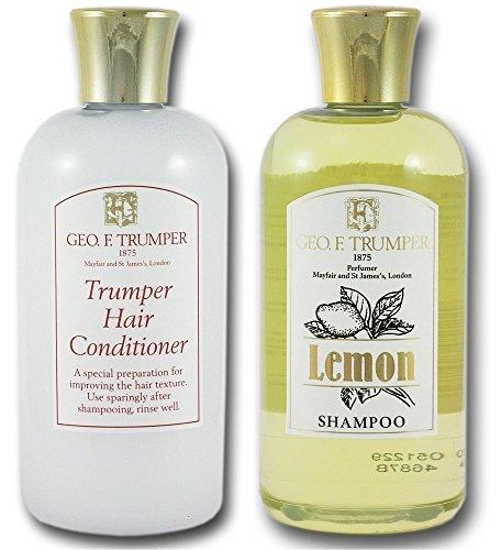 Geo F Trumper Citron Shampooing et Trumper Après-shampooing 200ml Double Set