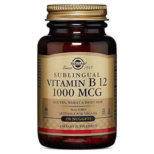 Der Aus Natur B12-vitamine (Solgar, sublinguales Vitamin B12, 1000mcg, 250 leichtschluckbare, vegane Nuggets)