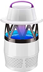 Vosarea Bug Zapper Lamp Electronic Insect Mosquito Fly Killer Flies Trap Bug Killer Catcher for Indoor and Outdoor (White)