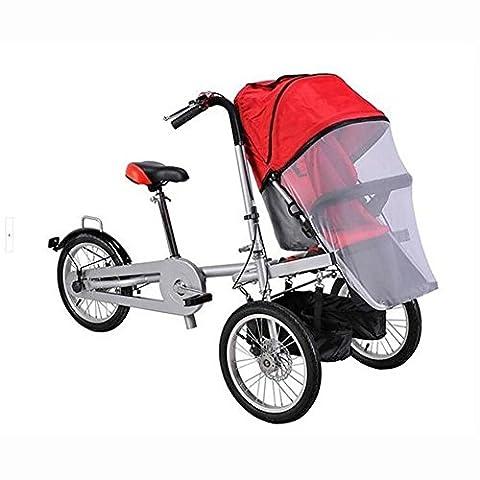Lei HuanLeBao Casual Parent-Child Bike Européenne et américaine porte-bébés avec enfants Cyclisme voiture maternelle et enfant voiture multi-fonction poussette voiture bébé , Red