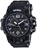 #9: SKMEI Analog-Digital Black Dial Men's Watch-AD1155 (BK WHITE)
