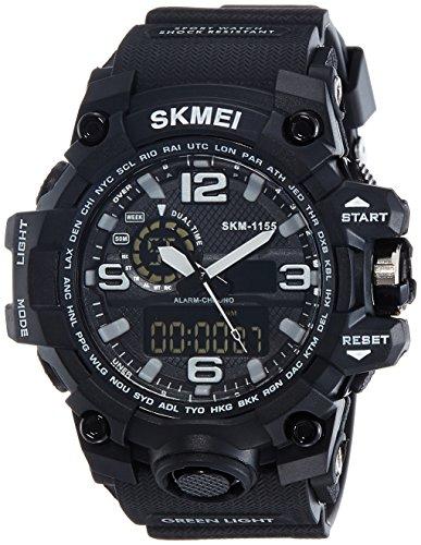 SKMEI Analog-Digital Black Dial Men\'s Watch-AD1155 (BK WHITE)