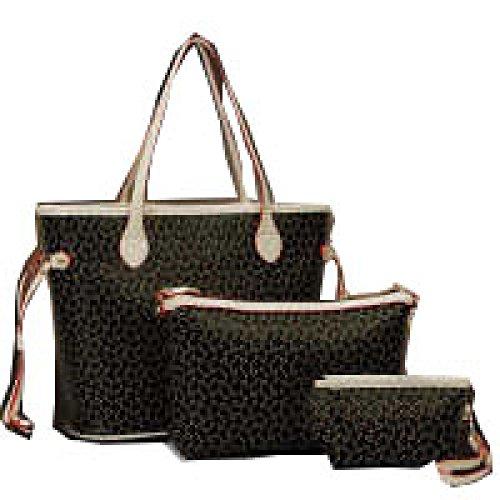 PACK Dreiteilige Taschenpaket Handtaschen Europa Und Die Vereinigten Staaten Mode Freizeit Tide Arrows Taschen,A:WineRed C:Black