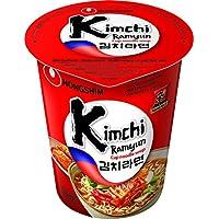 Nong Shim Fideos Instantáneos en Vaso, Sabor Kimchi - 12 Unidades