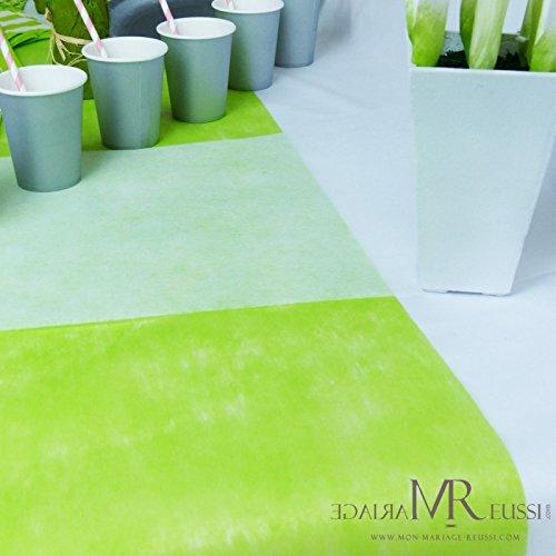 Santex NEU Tischläufer grün, 30cm x 10m (Tisch Dekoration Geburtstag)