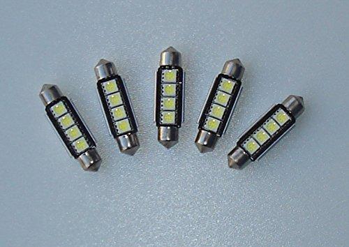 5x LED Soffitten 42mm (C10W) weiß für Boot, Innenraum Beleuchtung, Camping