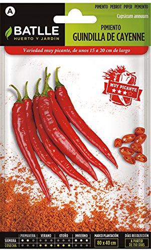 Batlle Gemüsesamen - Cayenne Pepperoni rot (300 Samen)