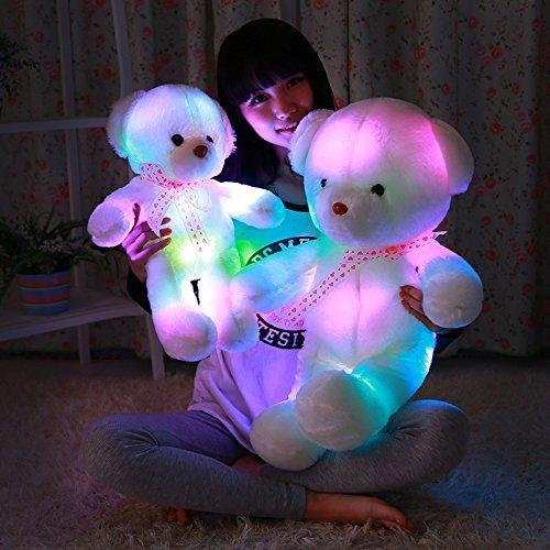 MFEIR Orsacchiotto dello LED colorato bambola Orso e i giocattoli di peluche con musica Regalo di compleanno per ragazza 35cm - 3