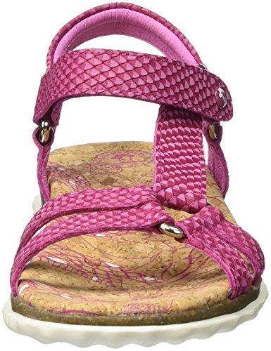 Panama Jack Caribel Snake, Sandalias Con Cuñas Woman Pink (fucsia)