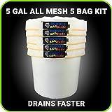 BUBBLEBAGDUDE Masche 5Liter 5-Bag Herbal Hash Ice Extractor Kit–mit Drücken Bildschirm und Aufbewahrungstasche