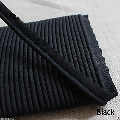laceking2013 Cordon de Passepoil de 16 m de Long - 13 mm de Large - Noir