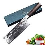YARENH Damastmesser Küchenmesser Nakiri 18 cm