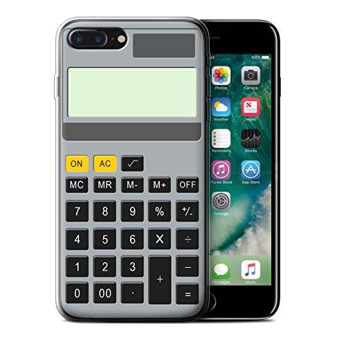 Stuff4 Gel TPU Hülle / Case für Apple iPhone 7 Plus / Tastatur Muster / Schaltfläche/Tasten Kollektion Kalkulator