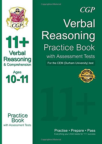 11+ Verbal Reasoning Practice Book with Assessment Tests (Ages 10-11) for the Cem Test