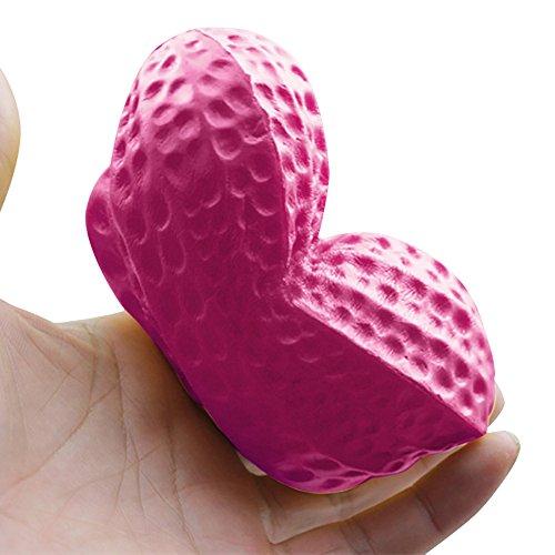 (mxjeeio 14*7cm Erdnuss-Squishy langsam steigende Squeeze-Telefon-Bügel Ballchains Dekompressions-Spielwaren Squeeze Duft Spielzeug Slow Rising Antistress Geschenk für Kinder Erwachsene)