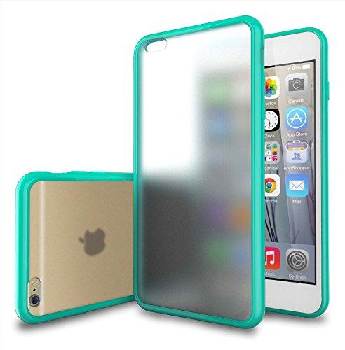 iPhone 6Plus Case-teksonic [Candy Serie] iPhone 6Plus Hülle (5,5) Frosted-Klar/Türkis Hybrid Back Cover Case mit Neuen Vibrant TPU Farbe Grenze für iPhone 6Plus (14cm), iPhone 6 Plus, Türkis (Verizon Entsperrt Plus Iphone 6)