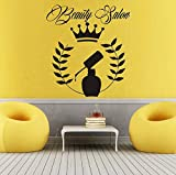 Xbwy Beauty Salon Nail Polish Wall Sticker Salon Sign Vinyl Removable Decals Waterproof Art Mural Home Decor