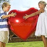Globo del amor. GaldaParty. Corazón gigante de 75 cm , para inflar con aire o Helio.
