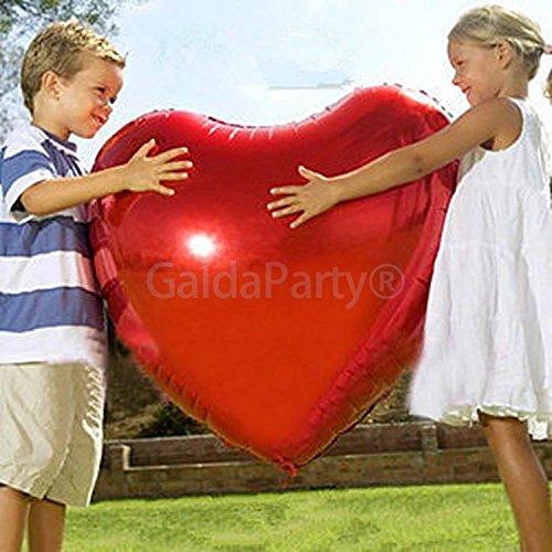 Globo del amor. GaldaParty®. Corazón gigante de 75 cm , para inflar...