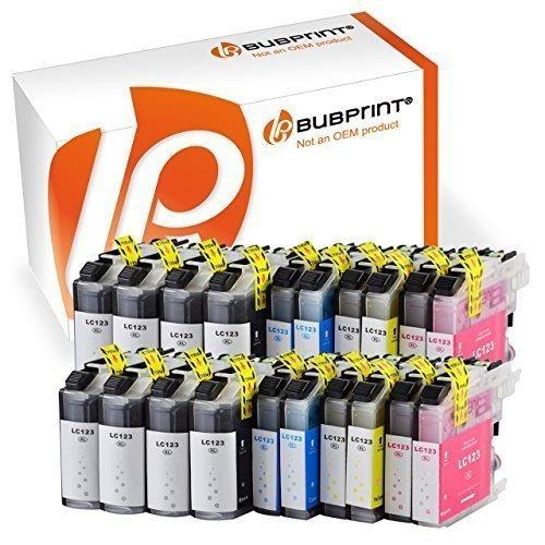 Bubprint 20er Set Druckerpatronen kompatibel für Brother MFC-J4410DW MFC-J470DW DCP-J4110DW Drucker LC-123 LC123 mit Chip