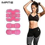 IMATE EMS Nueva Versión Cinturones de tono abdominal Tóner de músculo Cinturón eléctrico Cinturón de Cintura/Brazo/Abajo/Cinturón de muslo, IMATE ABS Fitness Trainer Apoyo de Fitness para mujeres