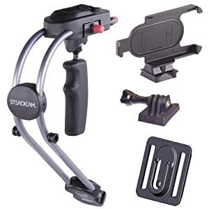 Steadicam SMOOTHEE-GPIP4 Support pour iPhone 4/4S/GoPro Hero/Hero 2/Hero 3 Blanc/argenté