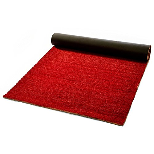 casa pura Coir Floor Matting 17mm, Red - 200 x 150 cm | Coconut Fibre Entrance Mat - 12 Sizes Available