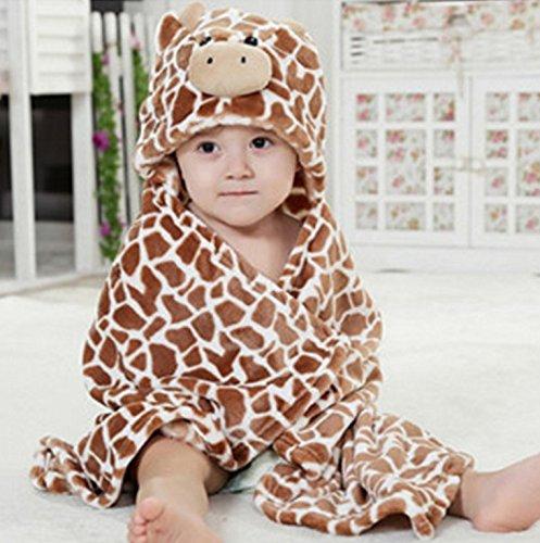 Preisvergleich Produktbild Jakerbing Baby Swaddle Wrap Infant Kleinkind Tier Bademantel Fleece Handtuch Decke mit Kapuze (Kaffee) nket mit Kapuze