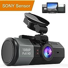 Crosstour Mini AutoKamera 1080P Full HD Dash Cam 12MP Bildschirm mit 170 ° Weitwinkel, HDR, G-Sensor, Loop-Aufnahme, und Bewegungserkennung (CR700)