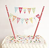 Happy Birthday Bunt Girlande Kuchendekoration Cake Toppers Geburtstagskuchen Deko