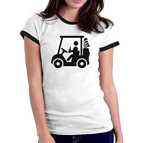Maglietta Ringer da donna Golf cart