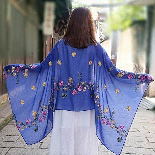 XLNSMZ Damen Schals aus Baumwolle und Leinen Wilde Schals Strandschals, O