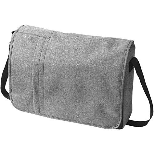 Bullet Messenger-Umhängesche für 15,6-Zoll-Laptops, meliertes Design (10 x 39,5 x 30,5 cm) (Grau meliert)