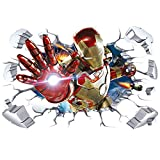Marvel Avengers 4 Movie Poster 3D Stereo Iron Man Wallpaper Wall Sticker Dorm Chambre