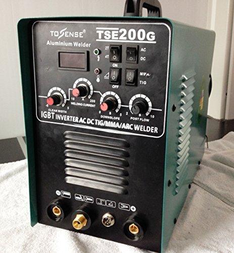 Preisvergleich Produktbild HST TIG WIG MMA AC DC TSE 200 Kombigerät 200 Amp schweißt Alu+Stahl+Elektroden