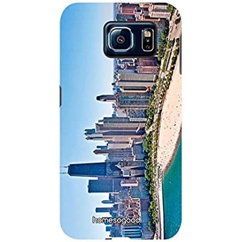 HomeSoGood Chicago City Multicolor 3D Mobile Case For Samsung S6 ( Back Cover)