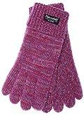 EEM Damen Strick Handschuhe JETTE mit Thinsulate Thermofutter aus 100% Baumwolle, modisch, warm, sportlich; pinkmix, L