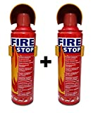 #10: Fire Stop - Portable Spray Safety - Flame Retardant Fuild - Fire Extinguisher (Set of 2 Pcs)